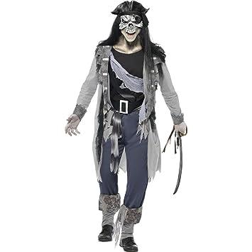 Disfraz de pirata Zombie gris M 48/50 para disfraz de pirata ...