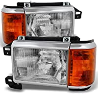 Ford Bronco F150 F250 F350 F450 Pickup Truck Clear Headlights Replacement Driver + Passenger Pair