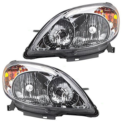 Pair Set Halogen Combination Headlights Headlamps Replacement for Toyota Matrix 81150-02220 81110-02210 AutoAndArt