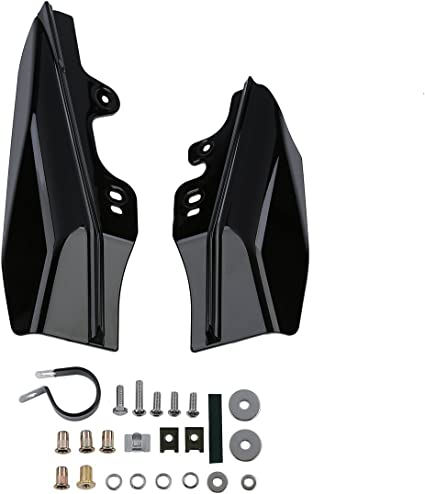 Lalaparts Chrome Mid Frame Air Deflector Compatible for Harley Touring Road King Street Glide 2017-up