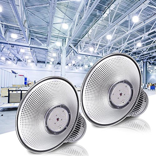 DELight 2Pcs 150W 18'' LED High Bay Light 16000lm 6000K-6500K with Heat Sink Factory Industry Lighting Feature by DELight
