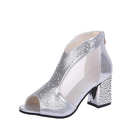 7a2f9d5aeca Summer Gladiator Sandals for Women Ladies, Sliver Gold Sparkly ...