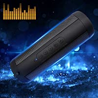 Korjo Pro Outdoor Bluetooth Speaker: IPX5 Waterproof, 5Wx2 Stereo Dual Driver with LED Flashlight Support FM Radio, Hands-free, TF Card, 3.5 AUX Wireless Portable Speakers for All Bluetooth Device