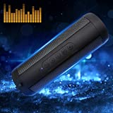 Korjo Portable Bluetooth Speaker 10W with Flashlight, FM Radio, Hands-Free, TF Card, 3.5 AUX Wireless Speakers Waterproof for Indoor Outdoor (Portable Bluetooth Speaker New)