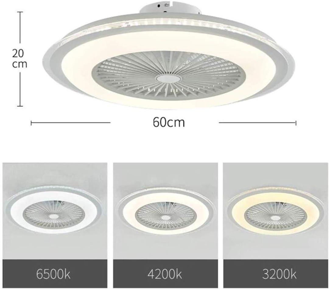 Mikia 80W Fan Deckenventilator mit Beleuchtung Fernbedienung leise,Dimmbar Einstellbare Windgeschwindigkeit,LED Deckenleuchte Deckenlampe kreative Moderne Ventilator Lampe,Schlafzimmer/Ø60cm,a