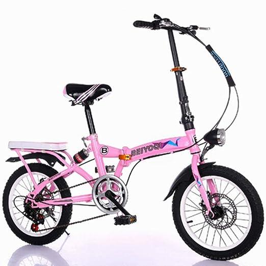 Bicicletas Triciclos Plegable para Niños Juego Al Aire Libre Masculinas Y Femeninas Adecuado para Niños Y Niñas Pequeña (Color : Pink, Size : ...