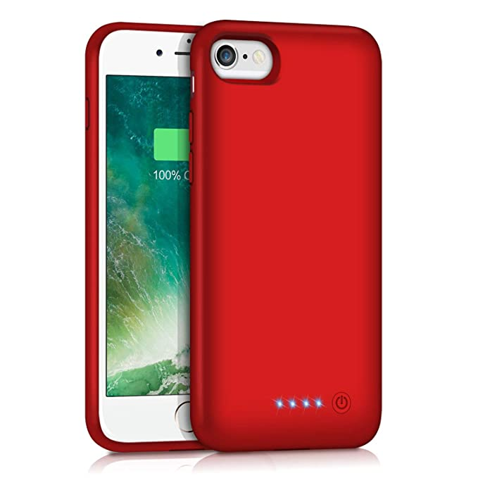 timeless design e4555 df0ea Battery Case for iPhone 6S 6 6000mAh, Rechargeable Charging Case for iPhone  6 External Charger Cover iPhone 6S Battery Pack Apple Power Bank [4.7 ...