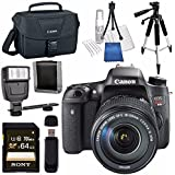 Canon EOS Rebel T6s DSLR Camera with 18-135mm Lens + Canon 100ES EOS Shoulder Bag Bundle