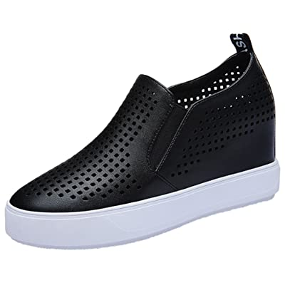 T&Grade Women Fashion Casual Round Toe Increased Within Flat Board Loafers Shoes