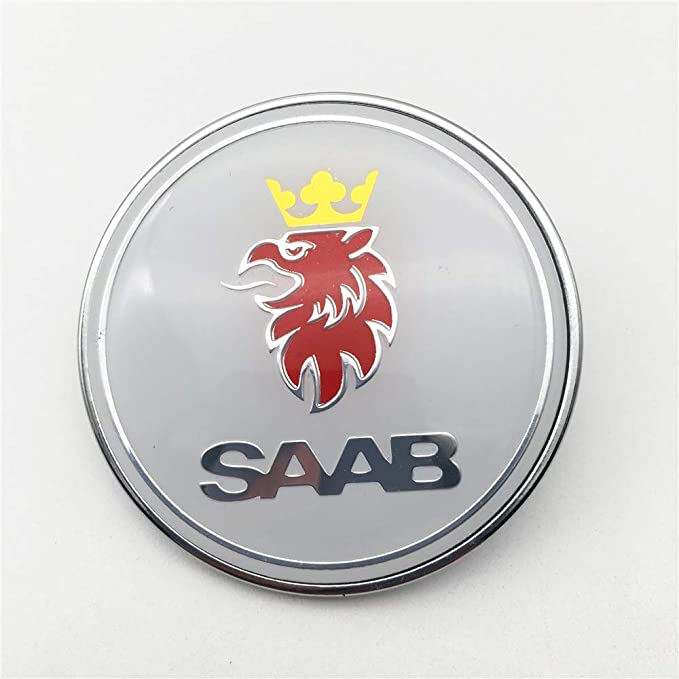 Ftc 1 Stück Für Saab 9 3 9000 900 Resin Domed Motorhaubenabzeichen Nagelneues Teil 4522884 Weiß Auto
