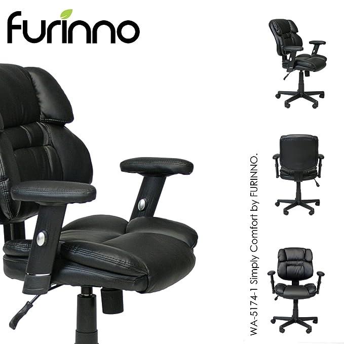 Furinno WA-5174-1 - Silla de Oficina (Piel sintética), Color ...