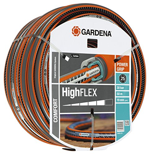 Gardena Gartenschlauch, Comfort HighFlex Schlauch, 19 mm, 3/4 Zoll, 50 m, mehrfarbig, 49.5 x 49.5 x 18 cm, 18085-20