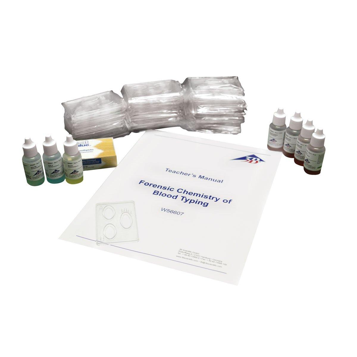 3B Scientific W56607 Forensic Chemistry of Blood Types Kit