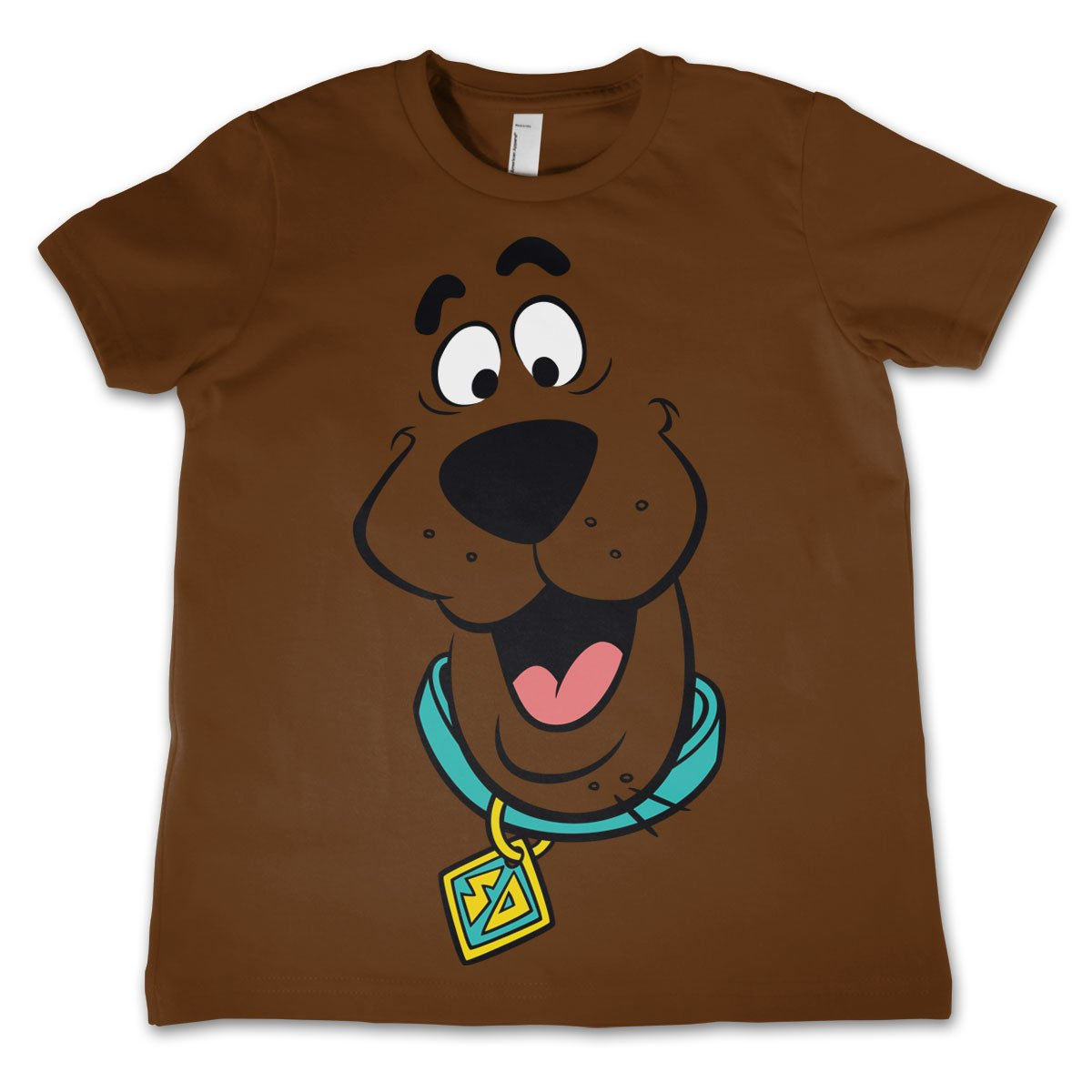 Scooby Doo Licenza Ufficiale Face Unisex Bambino Maglietta et/à 3-12 Anni