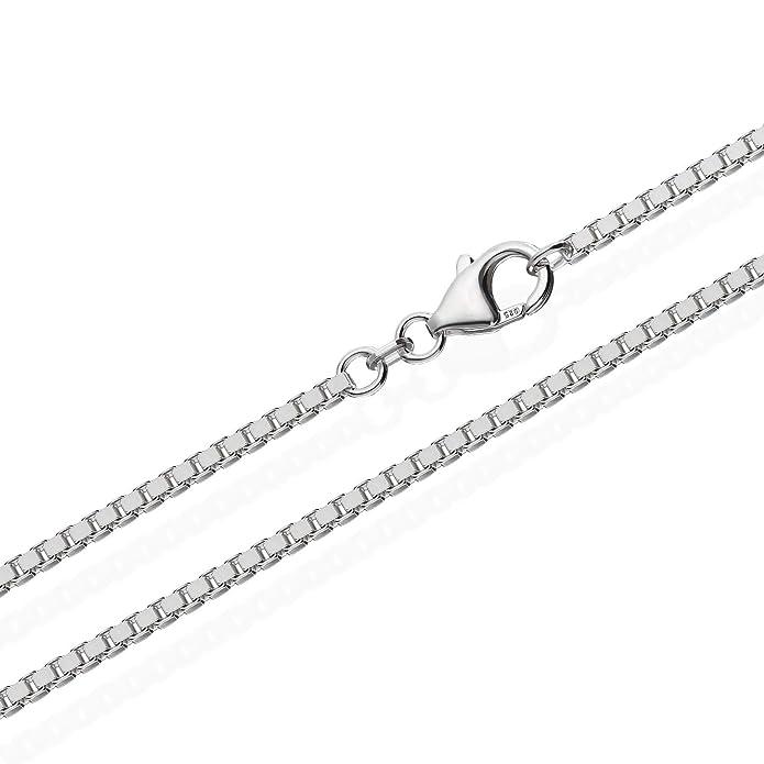 echte 925er Sterlingsilber Venezianerkette Silberkette 45cm 2,20mm 13,2gr 5996