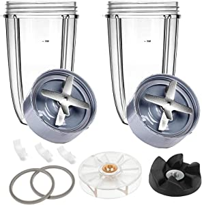 Extractor Blade Replacement Parts & Cups & Rubber Gear & Top Gear & Gaskets & Shock Pad Replacement Parts for NutriBullet Blender Accessories 600W/900W Series