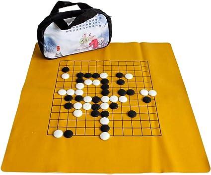 Gobus Go Juego de ajedrez Juego de ajedrez de cerámica Juego de Mesa fantástico Juegos de Viaje para Principiantes y Jugadores de ajedrez Go (Bolsa de ajedrez de Lino): Amazon.es: Juguetes y