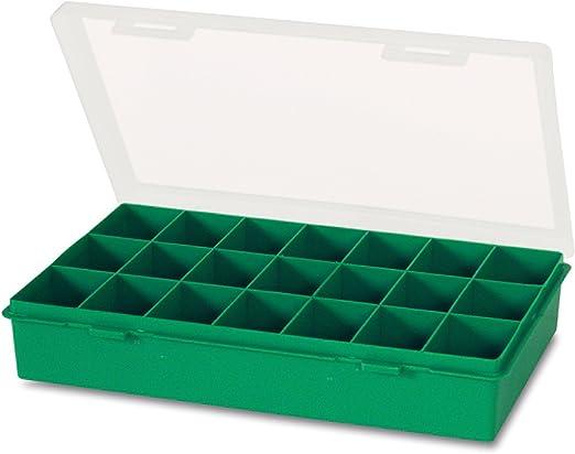 Tayg 060106 Estuche con separador fijo n. 12-21, Verde, Transparente, 290 x 195 x 54 mm.: Amazon.es: Bricolaje y herramientas