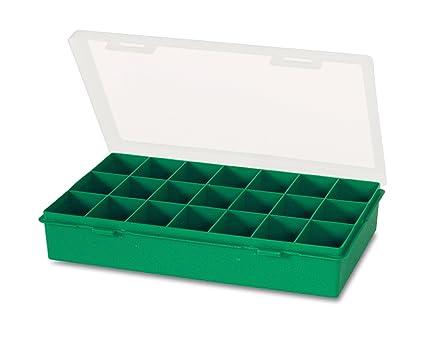 Tayg 060106 Estuche con separador fijo n. 12-21, Verde, Transparente, 290 x 195 x 54 mm.