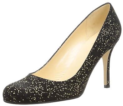 kate spade new york Women's Karolina Dress Pump,Black Gold Flecked  Suede,8.5 M