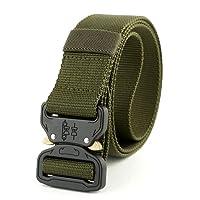 UxradG - Cinturón táctico Militar de Nailon Transpirable con Hebilla de aleación de liberación rápida y Hebilla de plástico para Hombre