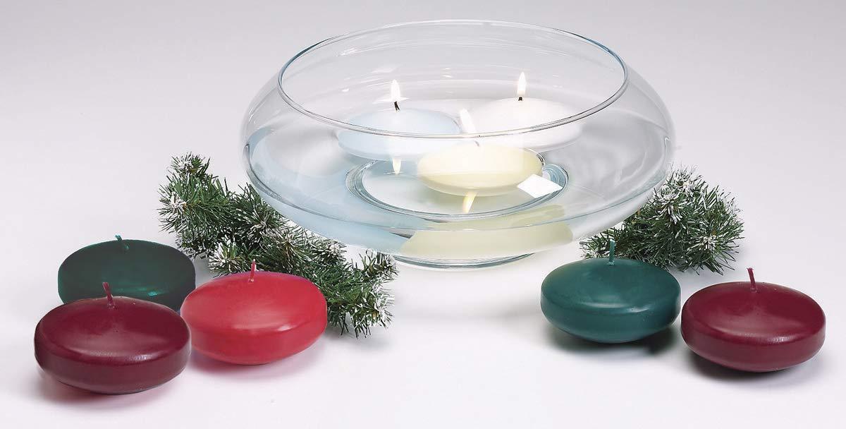 Darice Unscented Floating Candle Disk Ivory 12/pkg (8 Pack)