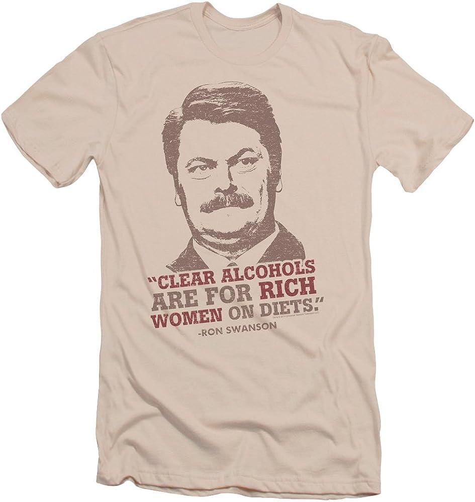 Parques y recreación Ron de la serie comedia claro alcoholes Quote adulto delgado camiseta
