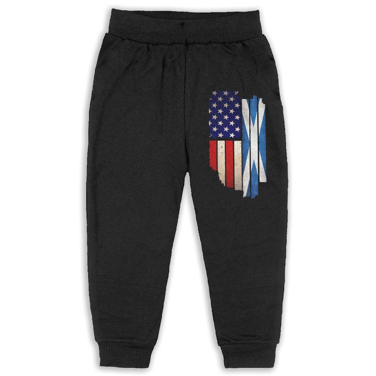 Kids /& Toddler Pants Soft Cozy Baby Sweatpants Vintage USA Scotland Flag Fleece Pants Sports Pants