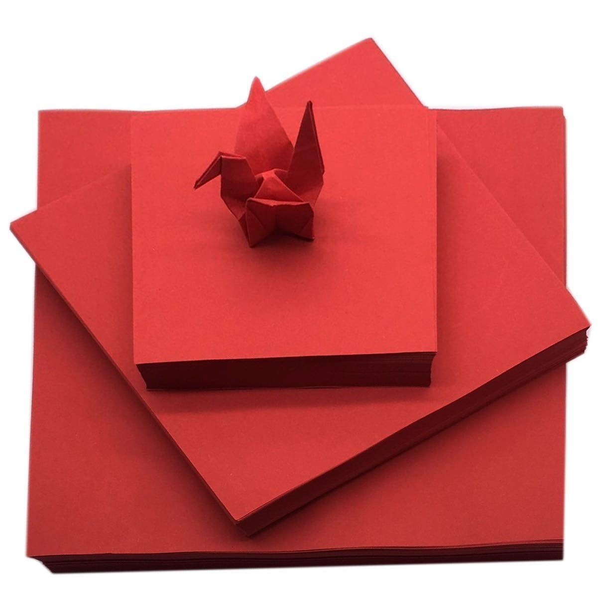 Gift Wrapping Paper - 200pcs Red Origami Handmade Kraft Paper Double-Sided Dark Red Origami Love Heart Square Origami DIY Scrapbooking Craft Paper by Gift Wrapping Paper