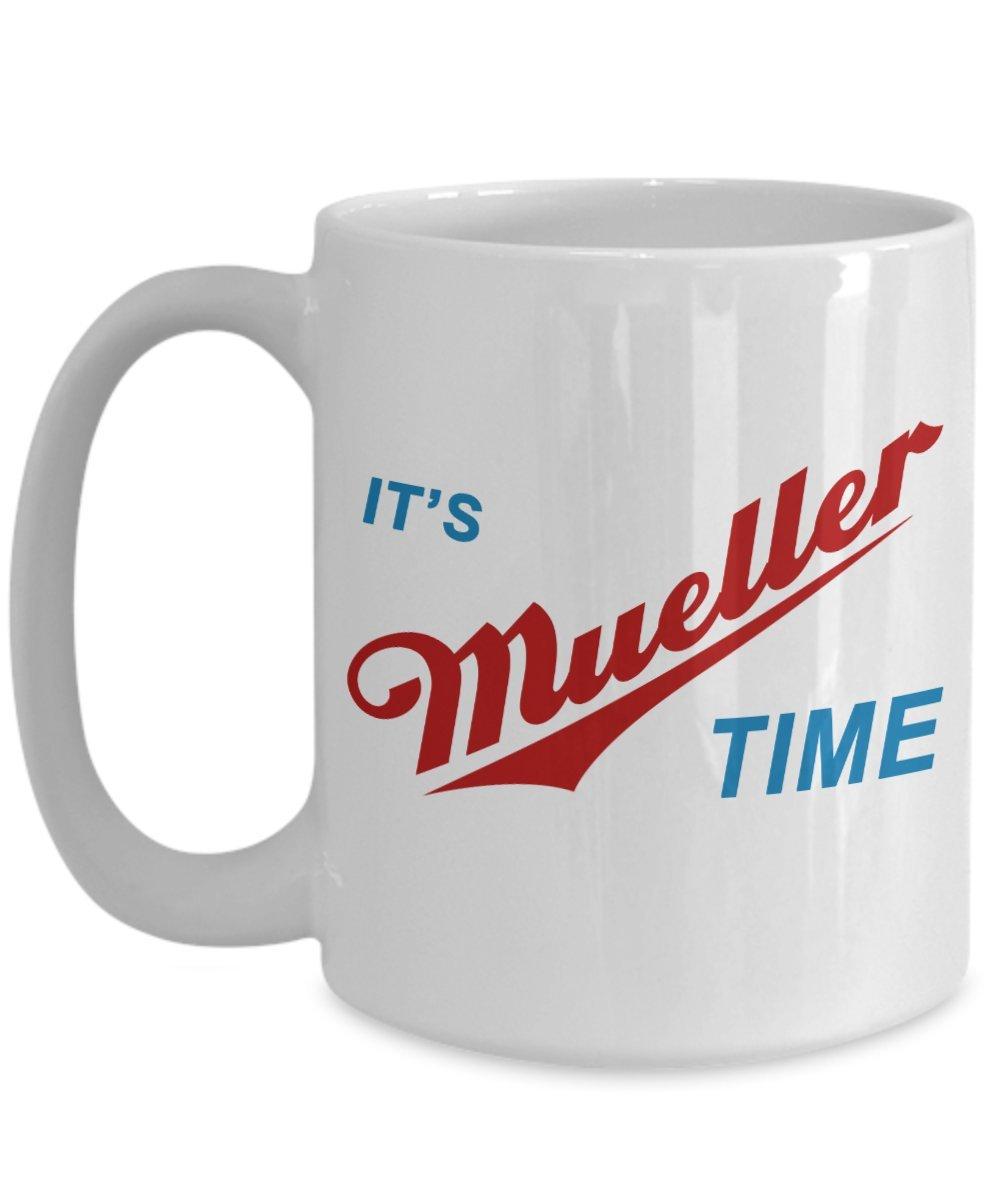 ギャグギフトアイデア – It 'sロバートMueller時間Resist Anti Trump面白いコーヒーマグカップ – Largeノベルティ二重壁c-shape Tea Cup – Great for Boss Officers政治家活動家Coworker、お母さんAunt Dadおばあちゃん 15oz GB-1433022-43-White 15oz ホワイト B074YHYWL6