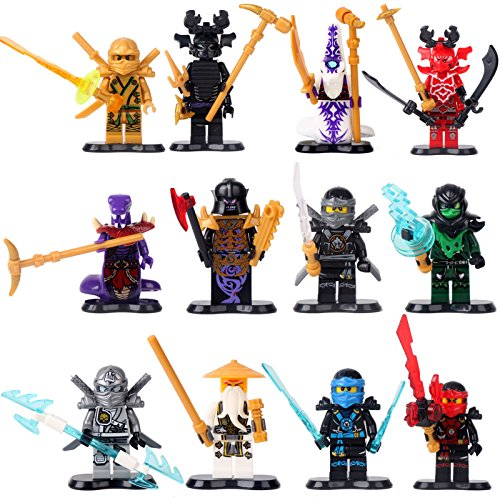 [gonggamtop LOT12 Minifigures NINJAGO NINJA Kai WU COLE ZANE Jay PYTHOR Building Bricks TOYS] (Plan B Costume)