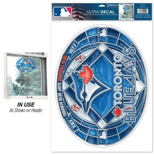 Wincraft MLB Toronto Blue Jays Multi-Use Decal Stained Glass