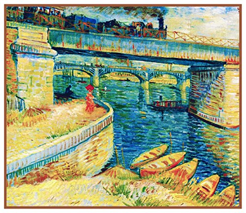 - Orenco Originals Bridge Across Seine Asnieres by Vincent Van Gogh Counted X Stitch P.