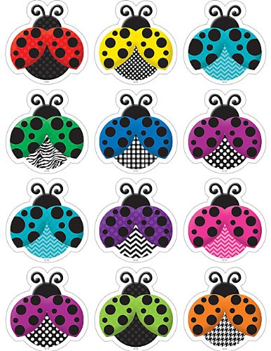Ladybug Cut Outs (Teacher Created Resources Colorful Ladybugs Mini Accents)