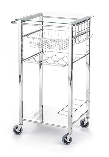 Küchenwagen metall  Amazon.de: Tomasucci 0584 Fox Küchenwagen, Metall Verchromt/Glas