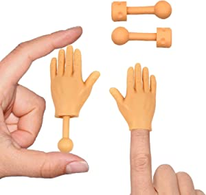 Tiny Hands (High Five Mini Pack) Left & Right Hand with Holding Sticks Included
