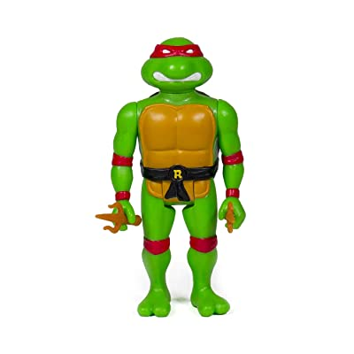 Super7 Raphael TMNT Teenage Mutant Ninja Turtles Reaction Action Figure: Toys & Games