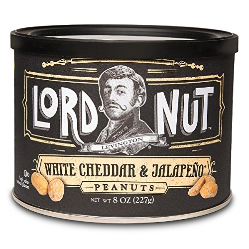(Lord Nut Levington Peanuts, White Cheddar & Jalapeno, 8-Ounce (Pack of 6))
