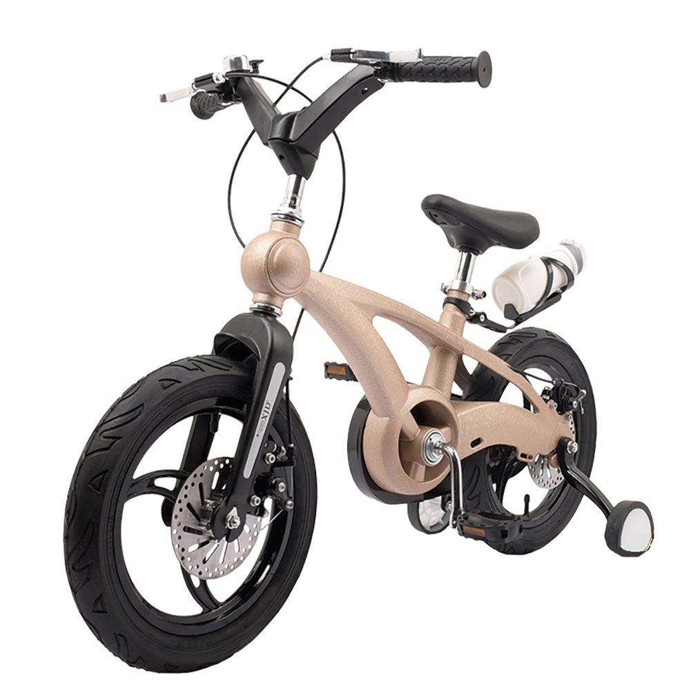 スクラブベビーマウンテンキャリッジボーイズ&ガールズキッズバイク14 16インチ3-4-6歳子供用自転車ワンホイールブルーオレンジレッドブラックゴールド B07DYGXP72 16 inch|ゴールド ゴールド 16 inch