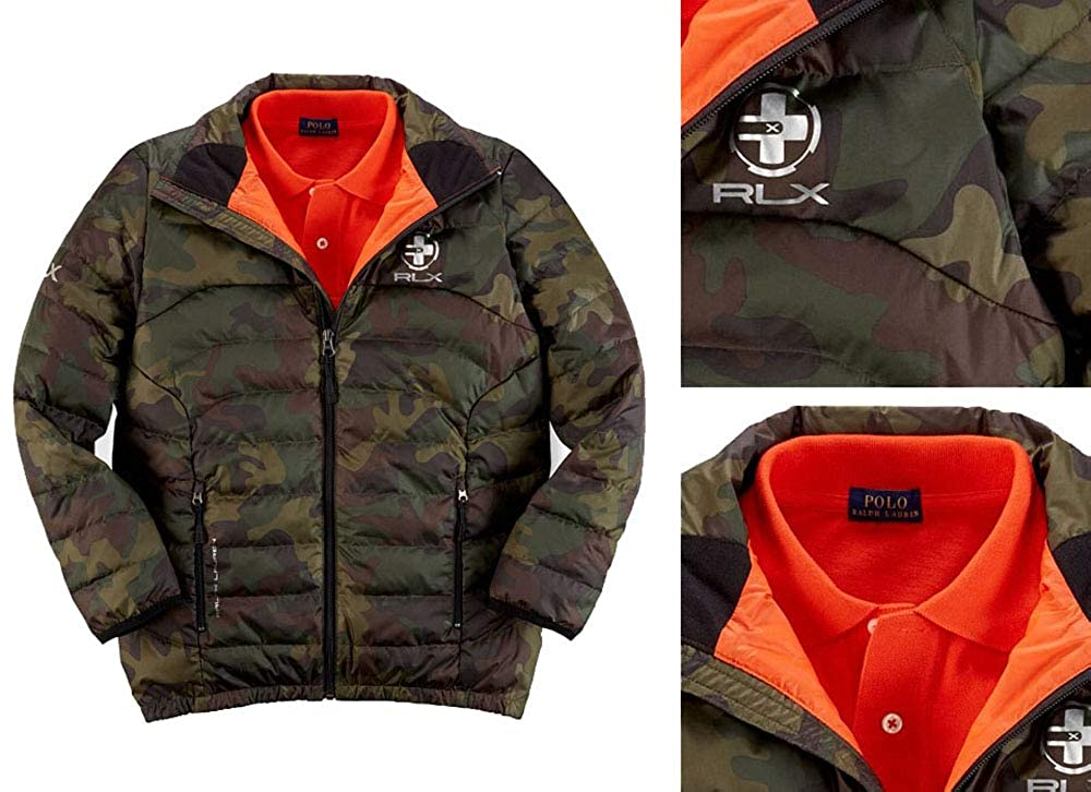 2ce961abb4867 Amazon.com: RLX Ralph Lauren Polo Boys Explorer Camo Jacket Small S 8:  Clothing