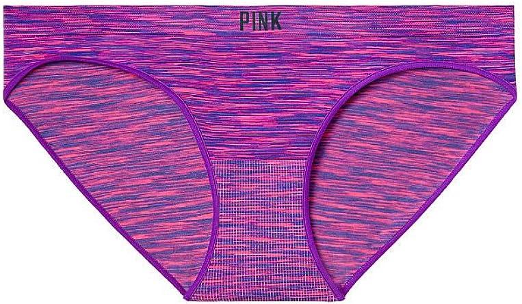 Victorias Secret PINK Seamless Bikini Panty Medium Purple Pink Marl