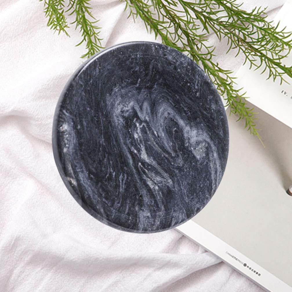 Vosarea marbre Bijoux Plaque Plat bibelot Plateau de Rangement Rond Dessert Plat de Service Snack Plat Polyvalent Plateau de Stockage pour la Maison