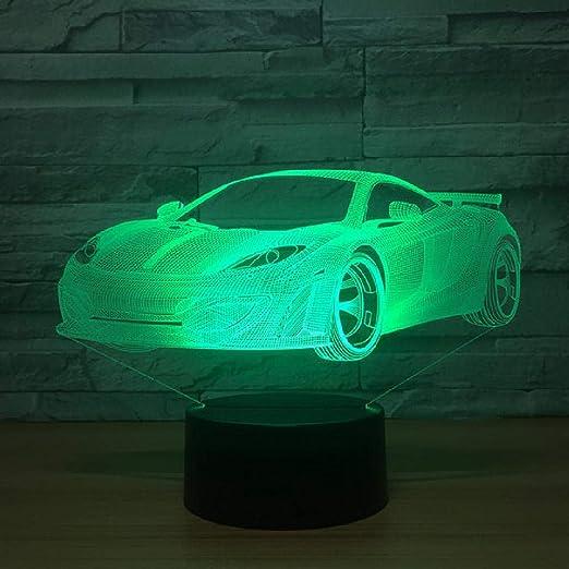 MODEL LAMBORGHINI SUPERCAR 3D Acrylic LED 7 Colour Night Light Touch Table Lamp
