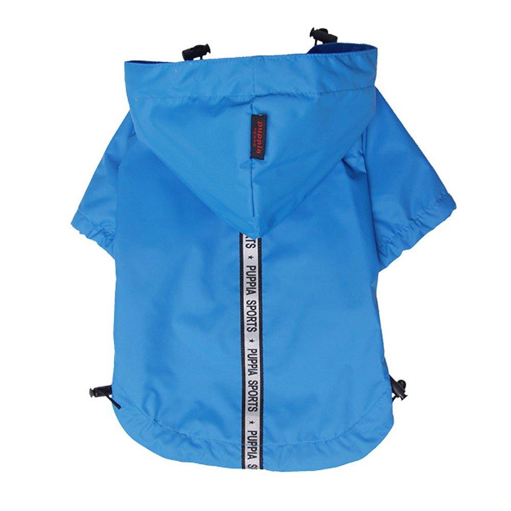 Puppia Authentic Base Jumper Raincoat, XX-Large, Sky Blue