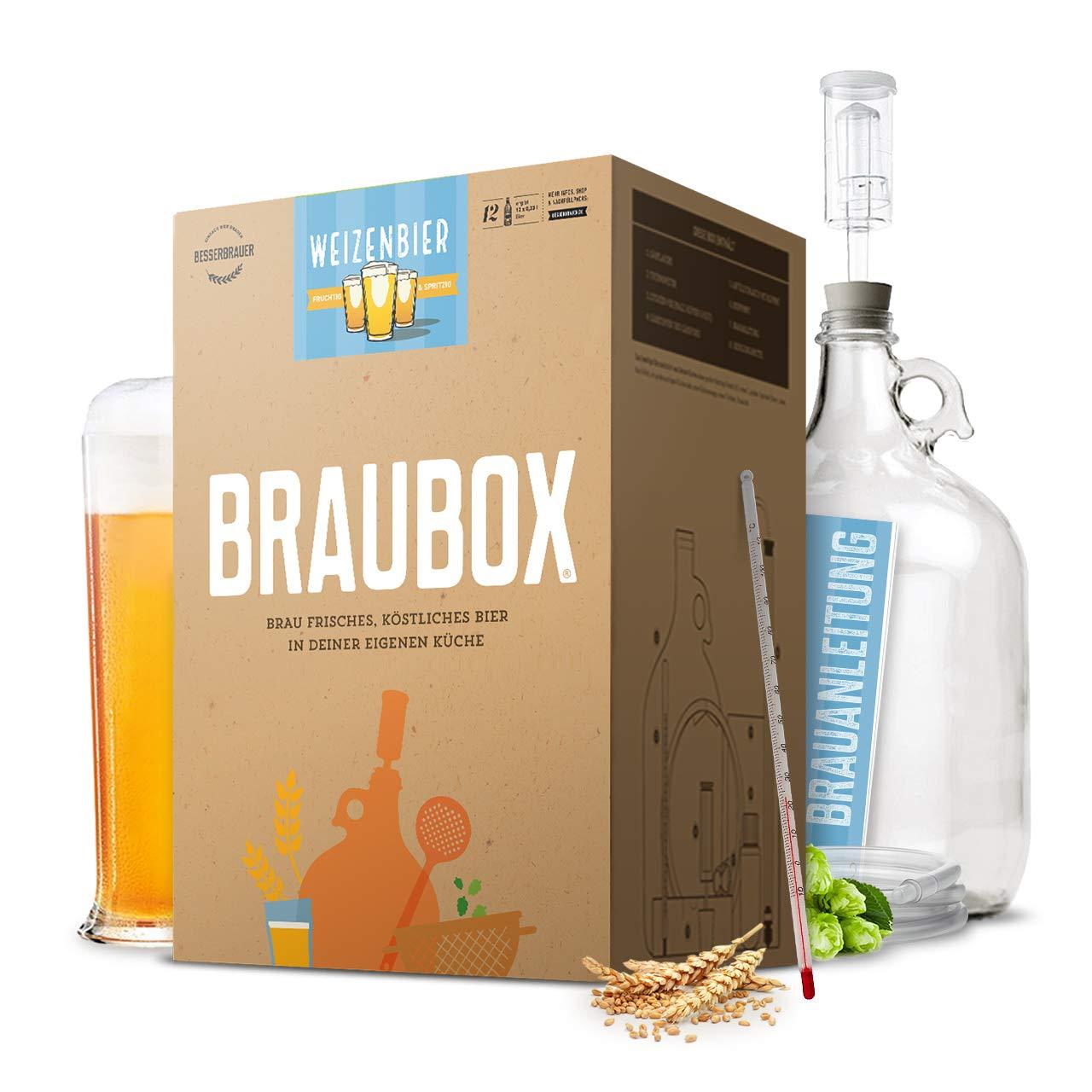Braubox®, Sorte Weizenbier | Bierbrauset zum Bier brauen in der Küche | mit Erfolgsgarantie von Besserbrauer Braubox®