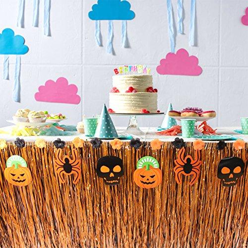 Mhjy Hawaiian Table Skirt Pumpkin Table Decor Tropical