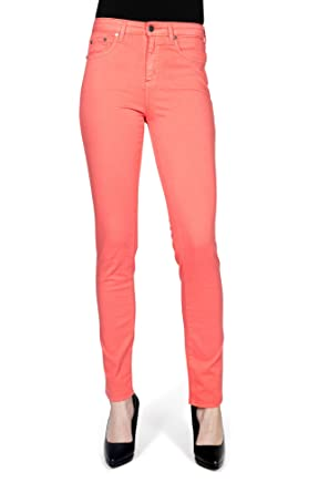 ebcbe20bea70a Kañopé Mandarine Color-Pantalon Toile Coupe Slim-Femme: Amazon.fr ...