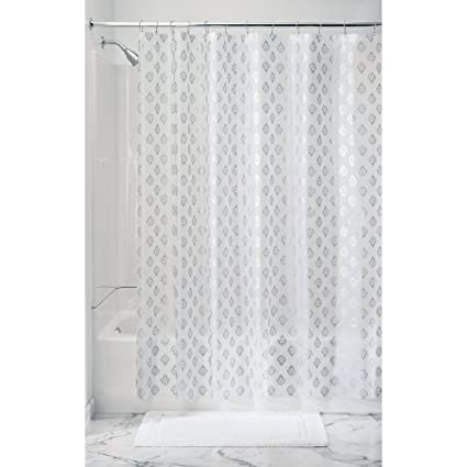 InterDesign Florence Decorative PEVA 3G Shower Curtain Liner, PVC-FREE, MOLD & MILDEW RESISTANT, ODORLESS, No Chemical Smell - 72