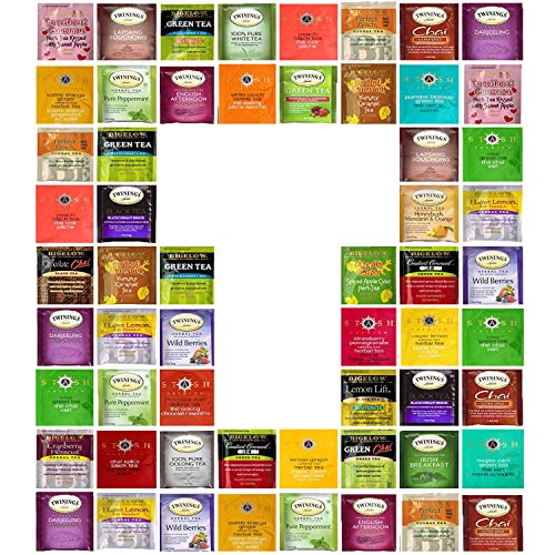 Custom Bigelow, Twining, Stash Tea Sampler, 30 Different Flavors! In Gift Box ()