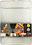 Charmed Cooling Rack - Baking Rack , Chef Quality - Tight-Grid Design, Oven Safe, (11.8x16.9)